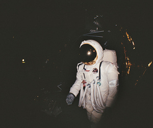 astronaut, space, and vintage image