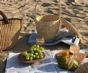 beach, picnic, and aesthetic image