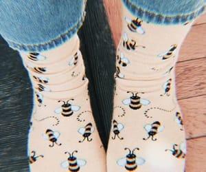 yellow, bee, and socks image