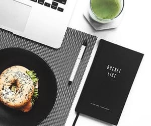 breakfast, journal, and lifestyle image