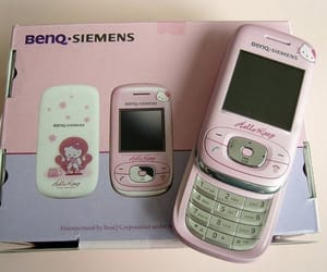 pink, phone, and hello kitty image