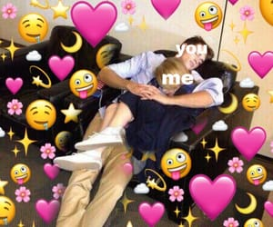 couple, hearts, and meme image
