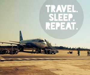 airplane, travel, and wanderlust image