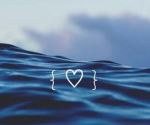 wallpaper, blue, and heart image