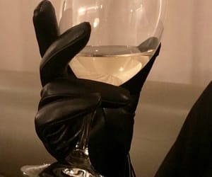 gloves, wine, and drink image