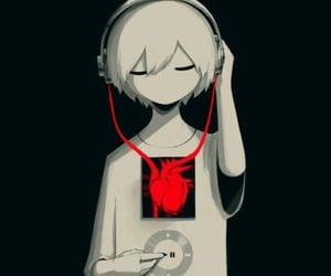 headphones, musicislife, and music image