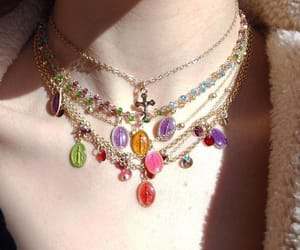 colorful, jewelry, and neck image