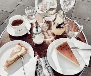 cake, coffee, and drinks image