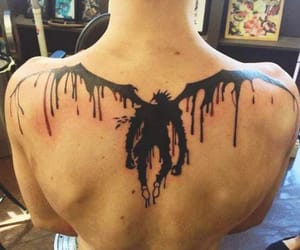 anime, death note, and tattoo image