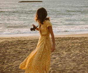 summer, beach, and dress image