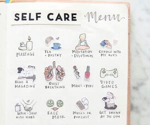 bullet journal, journal, and self care image