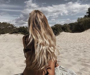 hair, sand, and summer image