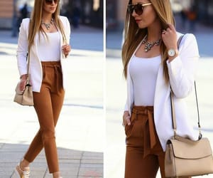 fashion, brown, and mode image