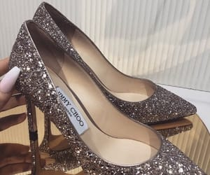glitter, heels, and girl image