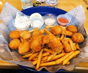 chips, fish, and food image