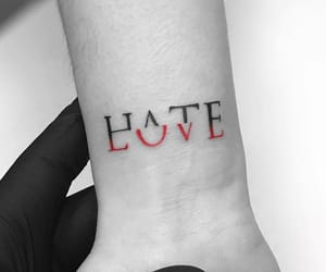 tattoo, love, and hate image