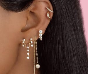 earrings, gold, and helix image
