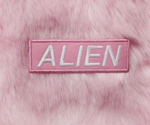 pink, alien, and aesthetic image