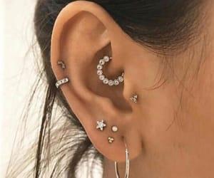 earrings, jewelry, and ear piercings image