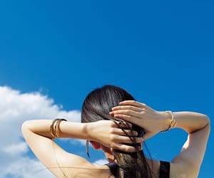girl, japanese, and hair image