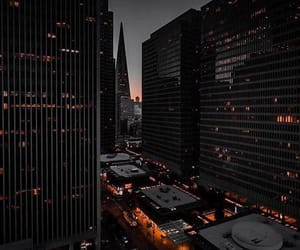 black, buildings, and city image