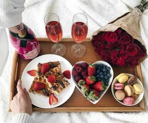breakfast, food, and champagne image