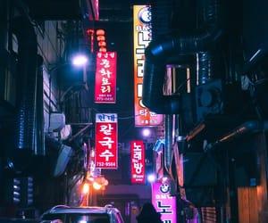 cyberpunk, korea, and neon image