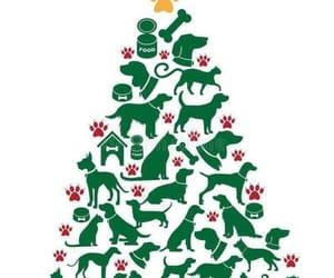 christmas, christmas tree, and dogs image