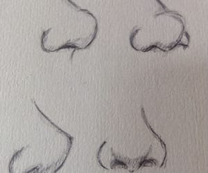 draw, nose, and sketch image