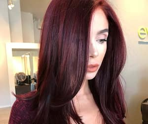 burgundy, fashion, and hair style image