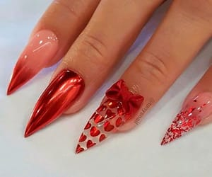 heart, nail art, and glamorous image