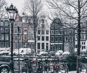 amsterdam, netherlands, and snow image
