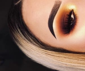 eyebrows, eyeshadow, and glam image