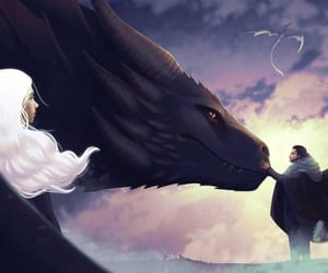game of thrones, khaleesi, and drogon image