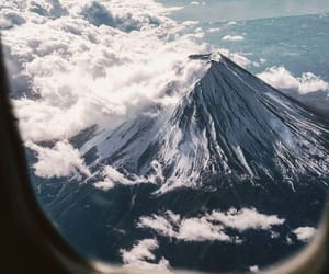 mountain, adventure, and airplane image