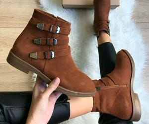 boots, brown, and fashion image
