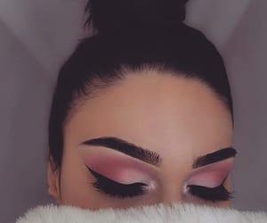 black, makeup, and pink image