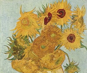 sunflower, van gogh, and art image