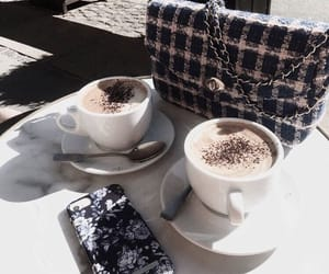 drink, bag, and coffee image