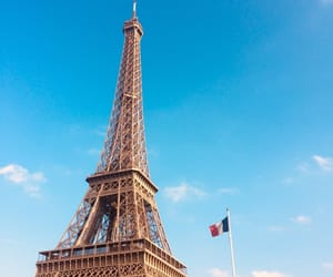 adventures, eiffel tower, and flag image