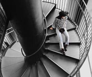 stairs, matt black, and kelsey simone image