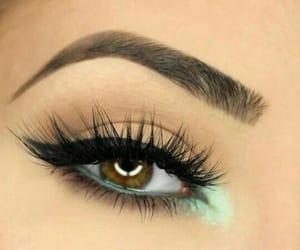 eyeliner, eyes, and green image