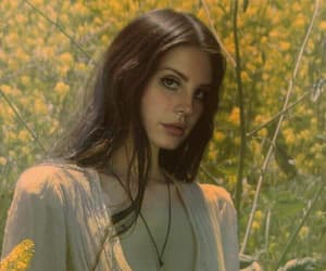 lana del rey, flowers, and yellow image