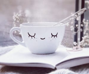 coffee, journal, and smile image