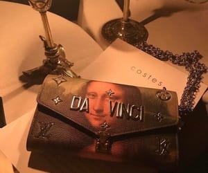 aesthetic, bag, and da vinci image