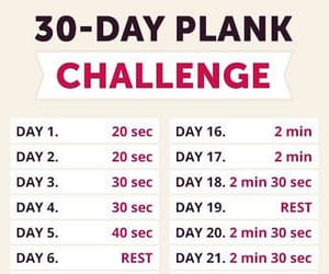 exercise, fitness, and fitness challenge image