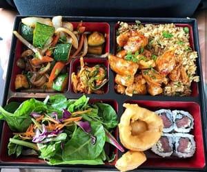 food, salads, and seafood image