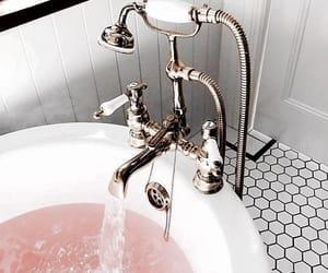 bath, pink, and home image