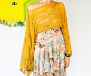 etsy, shredded holey top, and solar plexus color image