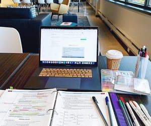 books, calm, and coffee image